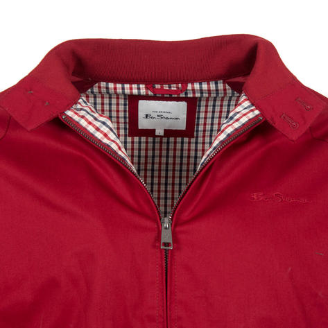 Ben Sherman House Check Lined Harrington Jacket Red Thumbnail 2