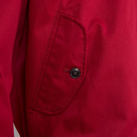 Ben Sherman House Check Lined Harrington Jacket Red Thumbnail 4