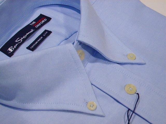 84648ecc735 BNWT Ben Sherman Oxford Shirt SKY BLUE 5XL XXXXXL (8) Thumbnail 1