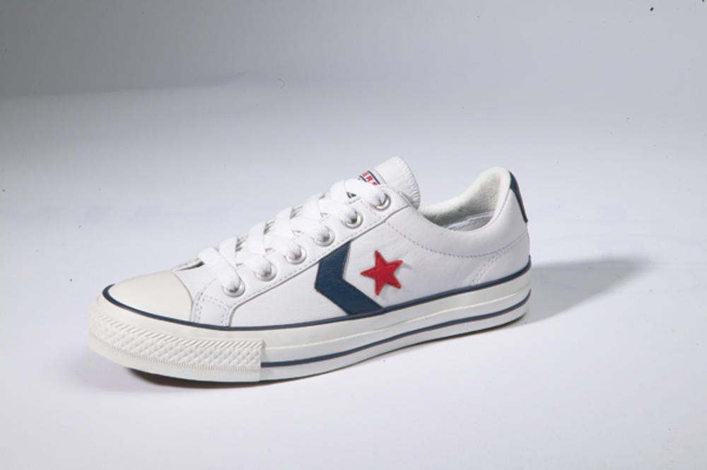 bafe235038d New Converse Star Player Ox Leather Trainer WHITE UK 12
