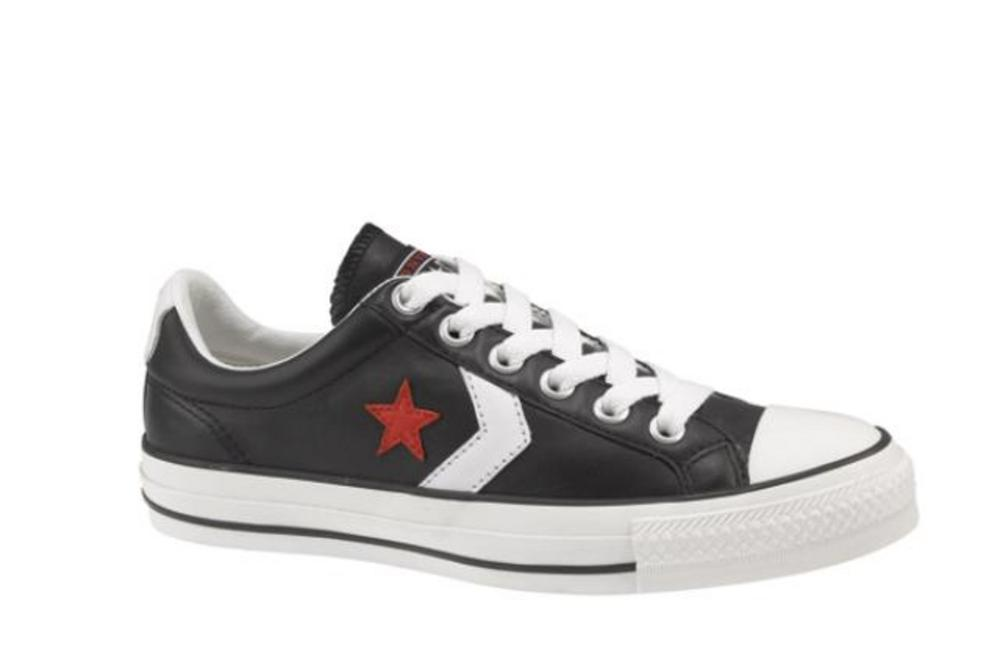 New Converse Star Player Ox Leather Trainer Black UK 7  5385f266a