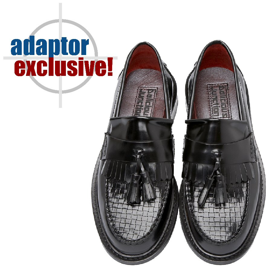 88c0232defc Delicious Junction Ladies Womens Solatio Basket Weave Tassel Loafers Shoe  Black