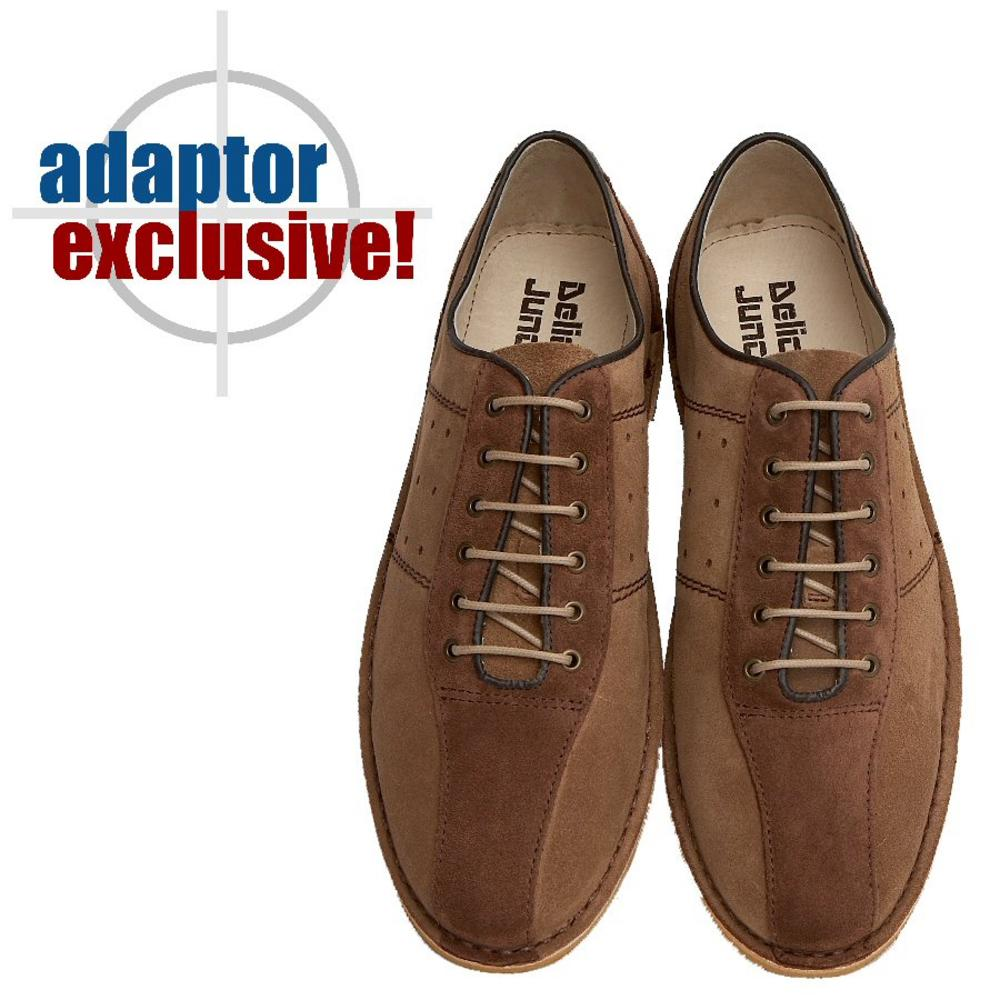 competitive price 3e1e7 a1ca5  Delicious Junction Exclusive Mod Retro Bowling Shoe Tan   Brown Suede 11    Adaptor Clothing