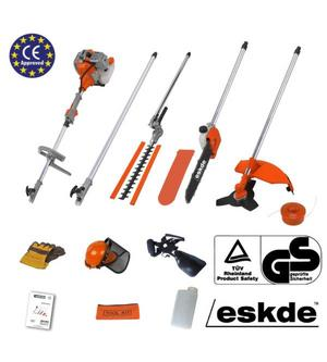 eSkde 52cc Petrol Brush Cutter Strimmer Hedge Trimmer Chainsaw Garden Multi Tool Preview