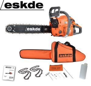 "eSkde 58cc Petrol Chainsaw 3.4HP 20"" Bar 2 Chains Bag Cover Accessories CS58-S7 Preview"