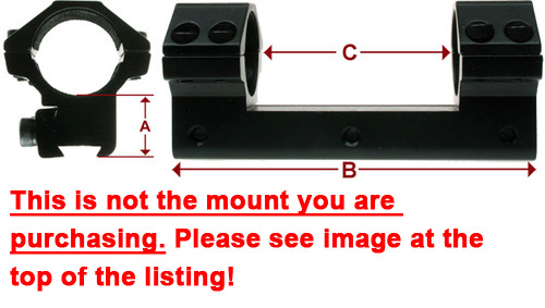 1 Piece Mount Dimensions