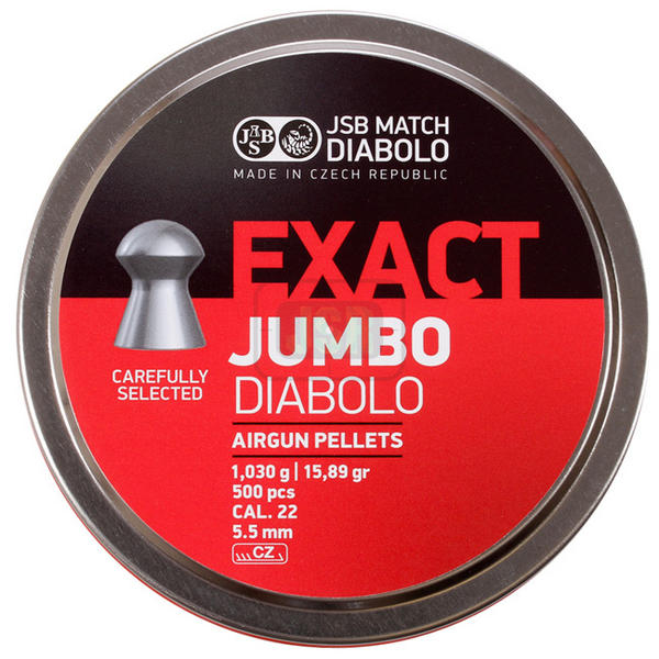 View Item JSB Match Exact Jumbo Diablo Pellets 15.89gr [.22][5.52mm][500]