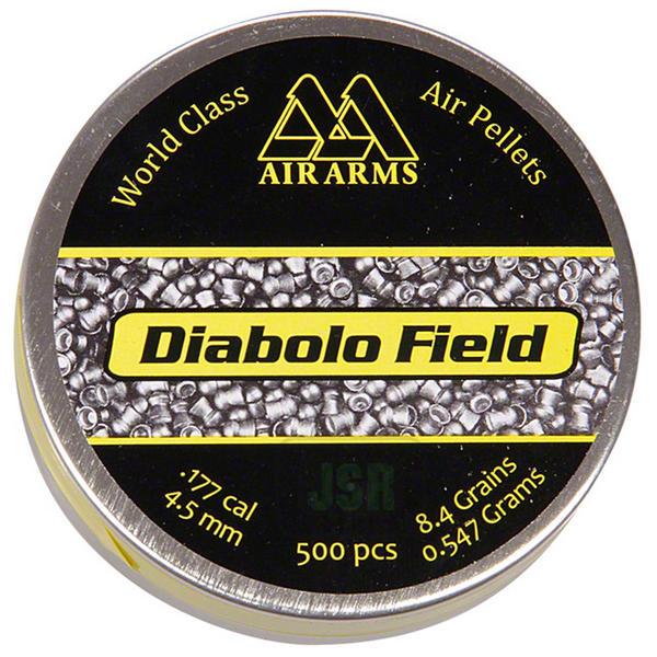 View Item Air Arms Diablo Field Domed Pellets [.177][4.52mm][8.4gr][500]