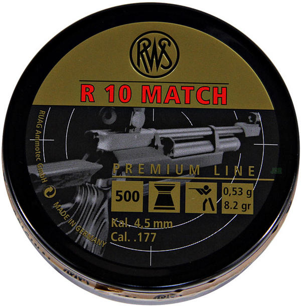 View Item RWS R10 Match Pellets 8.2 Gr Rifle [4.49mm] [500] 213 73 64