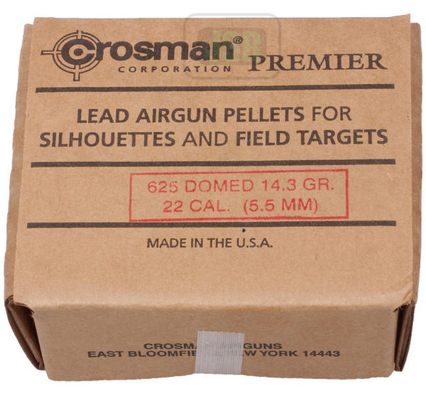 View Item Crosman Premier Domed Pellets [.22][14.3gr] [625 Card Box] 022DB