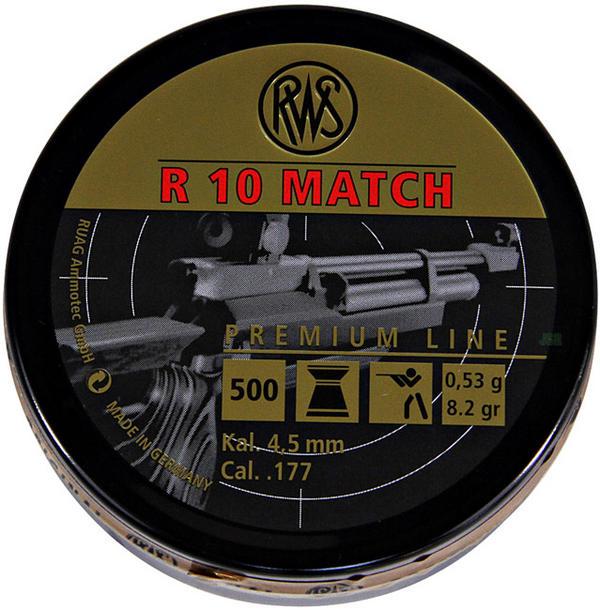 View Item RWS R10 Match Pellets 8.2 gr Rifle [4.50mm] [500] 213 59 06