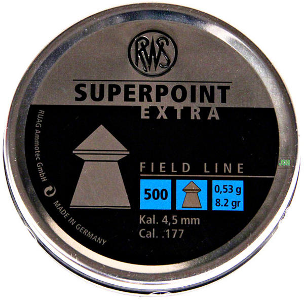 View Item RWS Super Point Extra Pointed Pellets [.177][8.2gr][500] 213 67 16
