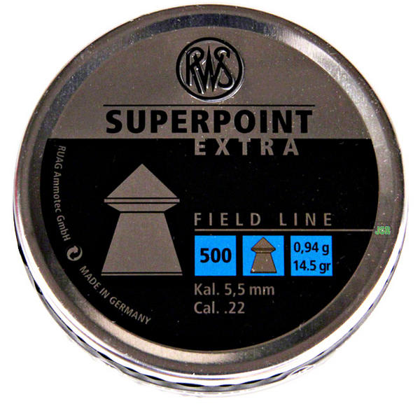 View Item RWS Super Point Extra Pointed Pellets [.22][14.5gr][500] 213 67 24