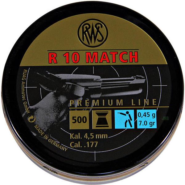 View Item RWS R10 Match Pellets 7.0 gr Pistol [4.49mm] [500] 231 54 41