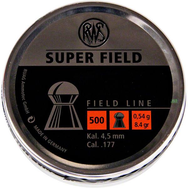 View Item RWS Super Field Pellets [.177] [4.52mm][8.4gr][500] 231 71 64 / 4.52