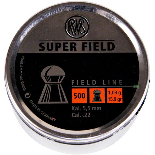 View Item RWS Super Field Pellets [.22] [5.52mm][15.9gr][500] 231 71 65 / 5.52