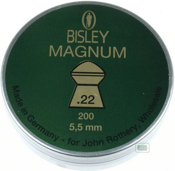 View Item Bisley Magnum Heavy Pellets .22 Air Rifle Gun 22 Pellets 200 Tin 21.4gr Hunting Ammo
