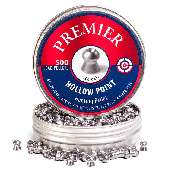 View Item Crosman Premier Hollow Point Pellets [.22][14.3gr] [500 Tin] 6-LHP22