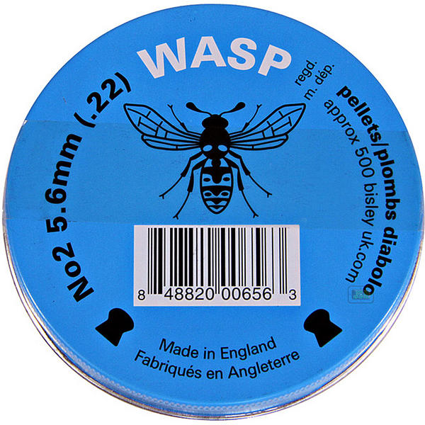 View Item Wasp Domed Pellets [.22][5.6mm][500][Blue Tin]