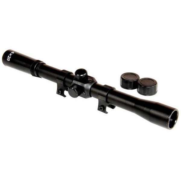 View Item JSR GunTuff 4x20 Rifle Scope With Mounts