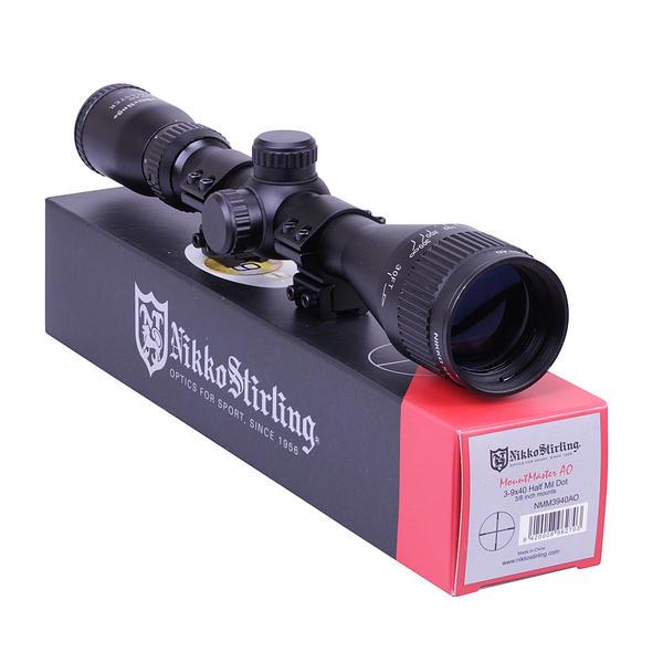 View Item Nikko Stirling Mountmaster 3-9x40 PX ADJ  Riflescope With Mounts NMM3940AO