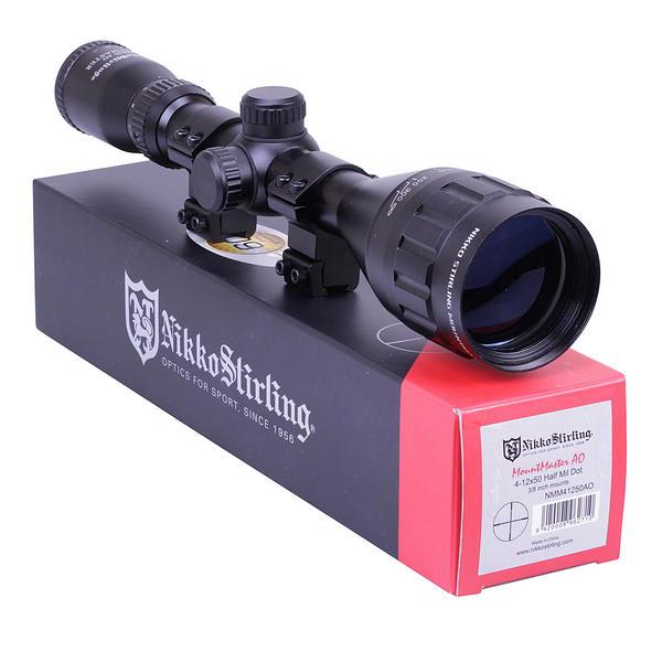 View Item Nikko Stirling Mountmaster 4-12x50 PX ADJ Riflescope With Mounts NMM41250AO