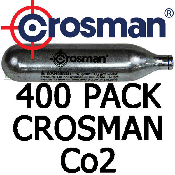 View Item Crosman 12gram Co2 Cartridge With SC Lubricant [Approx. 400 Pack]