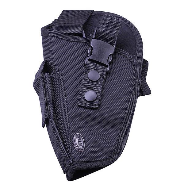 View Item Umarex UTG Black Cordura Tactical Leg Holster LEFT/H + Mag Pouch - Med / Lrg Pistols 3.1568