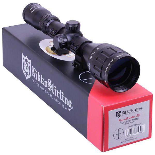 View Item Nikko Stirling Mountmaster 3-9x50 PX ADJ Riflescope With Mounts NMM3950AON