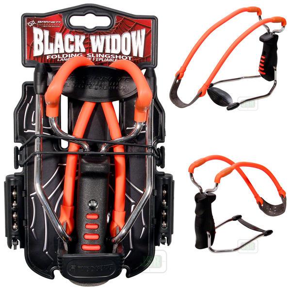 View Item Barnett Black Widow Slingshot Catapult (RED Band) [Free Steel Ammo]