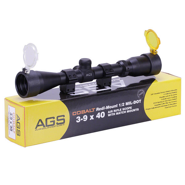 View Item AGS Cobalt 3-9x40 Telescopic Rifle Sight With 11mm Mounts