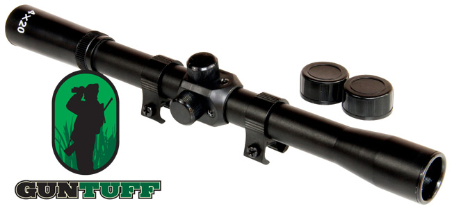 Details about Sniper Air Rifle Airgun Gun Scope 4x20 TELESCOPIC SIGHT  Fitted 11mm Mounts Rings