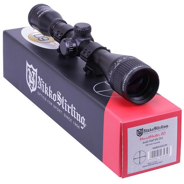View Item Nikko Stirling Mountmaster 4x40 PX ADJ Riflescope With Mounts NMM440AO