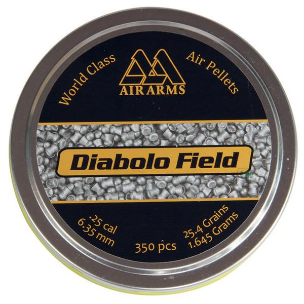 View Item Air Arms Diablo Field Domed Pellets [.25][6.35mm][25.4Gr][350]