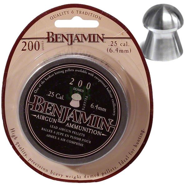 View Item Benjamin Domed Pellets [.25][6.4mm][27.9gr] [200 Tin] BD225