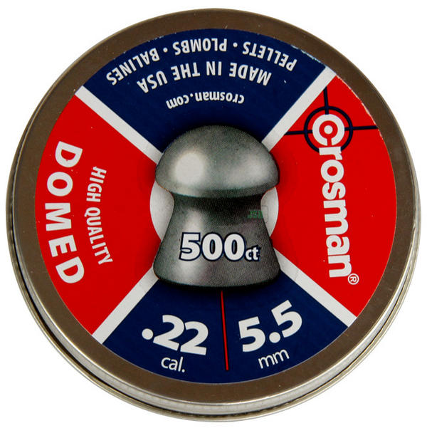 View Item Crosman Domed Pellets [.22][14.3gr][500 Tin]  11243