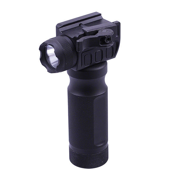 "View Item UTG 5.5"" Grip Light LED Airsoft Rifle Metal Foregrip Combat Quality Lever Mount"