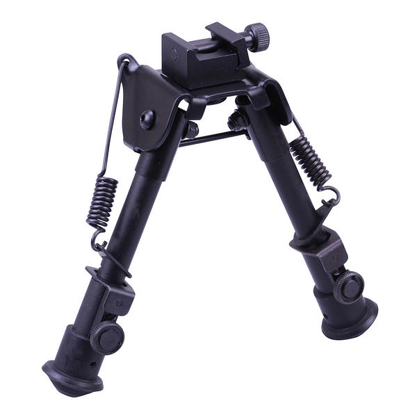 "View Item Leapers UTG Tactical OP Bipod Rubber Feet Center Height 6.1""-7.9"" TL-BP78"
