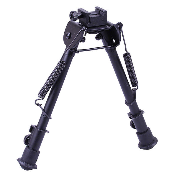 "View Item Leapers UTG Tactical OP Bipod Rubber Feet Center Height 8.3""-12.7"" TL-BP88"