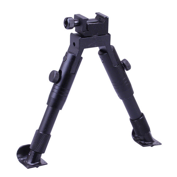 "View Item Leapers UTG Shooter's SWAT Bipod  Steel Feet  Height 5.8""-6.8"" TL-BP28ST"