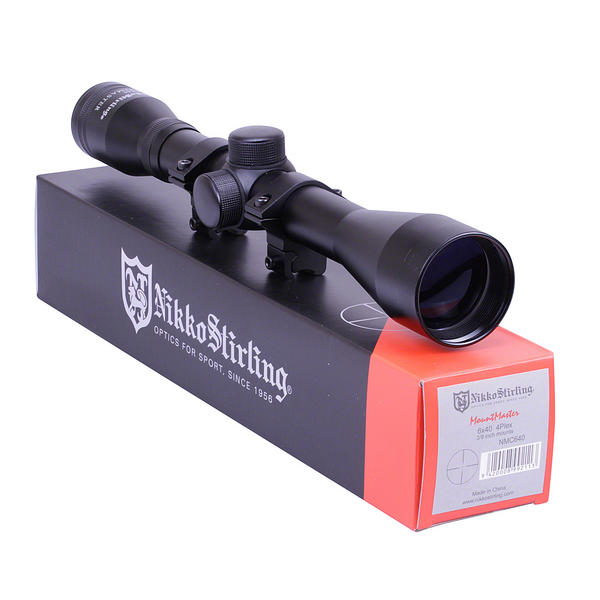 View Item Nikko Stirling Mountmaster 6x40 Riflescope With Mounts NMC640