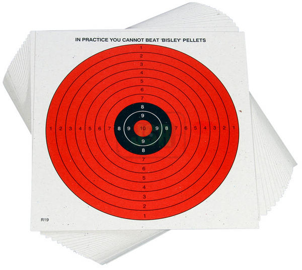 View Item 14cm Bisley Day-glo Airgun Targets [100]