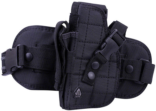 View Item UTG Tactical Airsoft Pistol L/H LEG HOLSTER BB Soft Air Gun Pistol Black H178BL