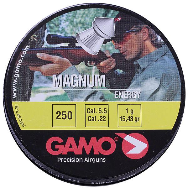 View Item Gamo Magnum Energy Pellets .22 250 Tin Airgun Air Rifle Pistol 6320225