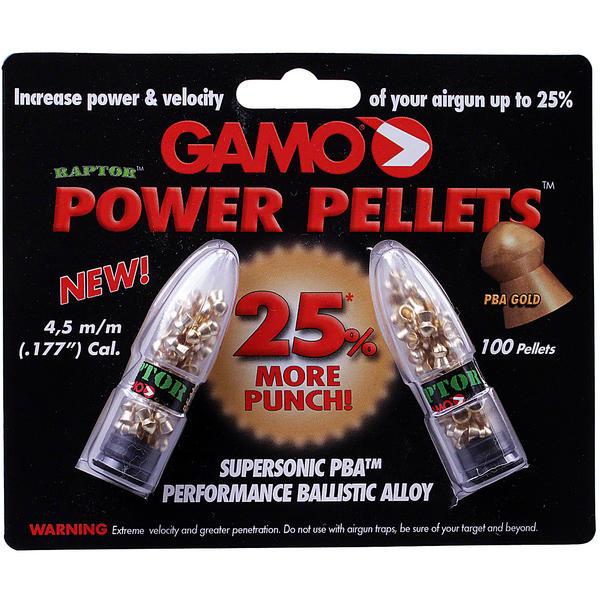 View Item Gamo Power Raptor Lead Free Airgun Rifle Pellets .177 100 Pack Gold Plated PBA