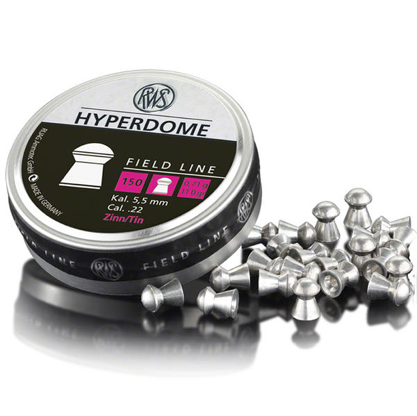 View Item RWS HyperDome Tin Non Lead Domed Pellets [.22][11.0gr] [150] 231 81 63