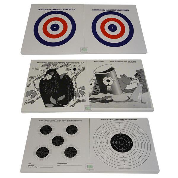 """View Item Bisley 17cm (6.75"""") Card Airgun Air Rifle Pistol Targets"""
