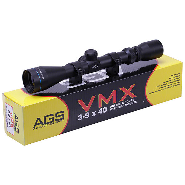 View Item AGS VMX 3-9x40 Telescopic Rifle Sight With 11mm Mounts