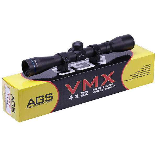 View Item AGS VMX 4x32 Telescopic Rifle Sight With 11mm Mounts