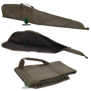 GunTuff Olive Green Lined Scoped Rifle Case With Pocket And Sling Preview